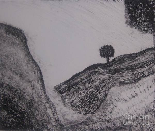 Nature Art Print featuring the painting Hills by Emily Young