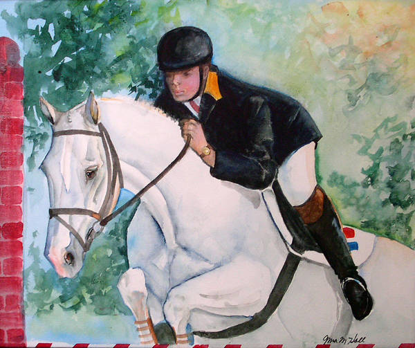 Equine Art Print featuring the painting Jumper by Gina Hall