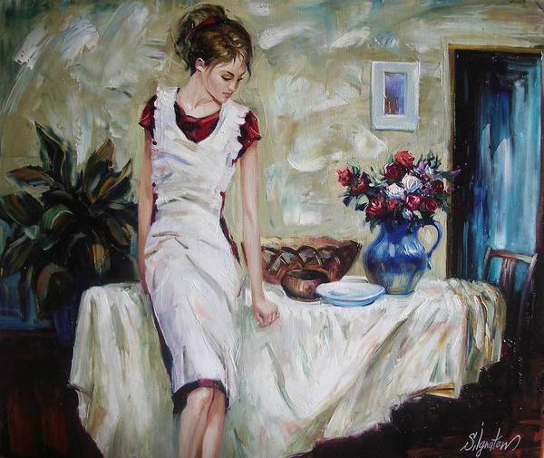 Figurative Art Print featuring the painting Just The Next Day by Sergey Ignatenko