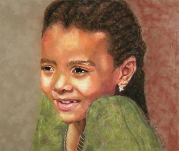 Art Art Print featuring the pastel Little Evie by Laura Gabel
