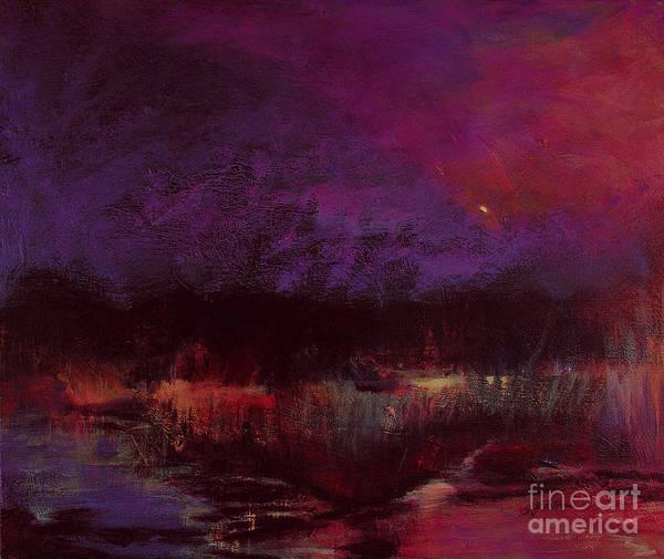 Impressionism Art Print featuring the painting Moon Glow 5-6-11 Julianne Felton by Julianne Felton