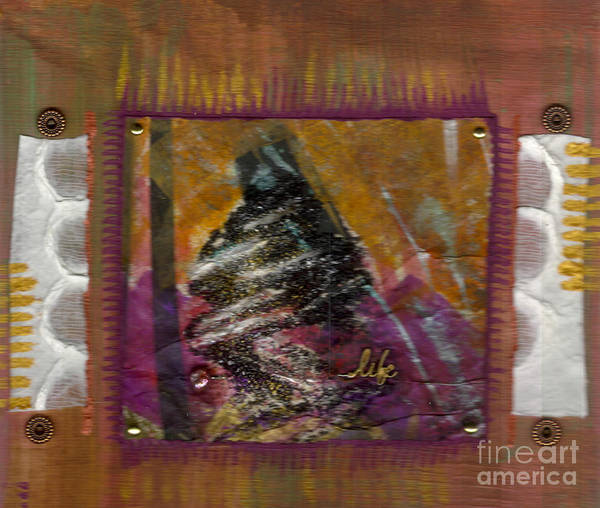 Understanding Art Print featuring the mixed media My Life by Angela L Walker