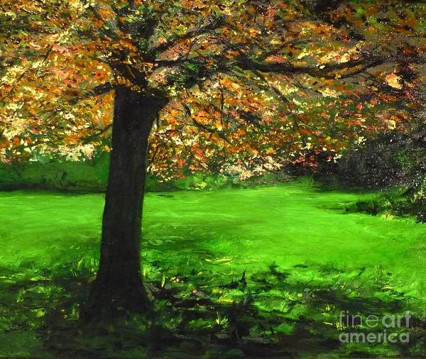 Spiritualism Art Print featuring the painting My Love Of Trees I by Lizzy Forrester
