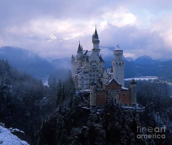 Castle Photographs Art Print featuring the photograph Neuschwanstein by Don Ellis