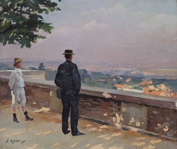 Paris From The Observatory At Meudon (oil On Canvas) By Jules Ernest Renoux (1863-1932) Art Print featuring the painting Paris From The Observatory At Meudon by Jules Ernest Renoux