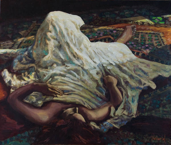 Figurative Art Print featuring the painting Persian Rugs by Rick Nederlof