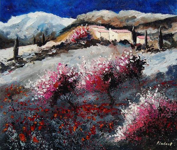 Provence Art Print featuring the painting Provence 675458 by Pol Ledent