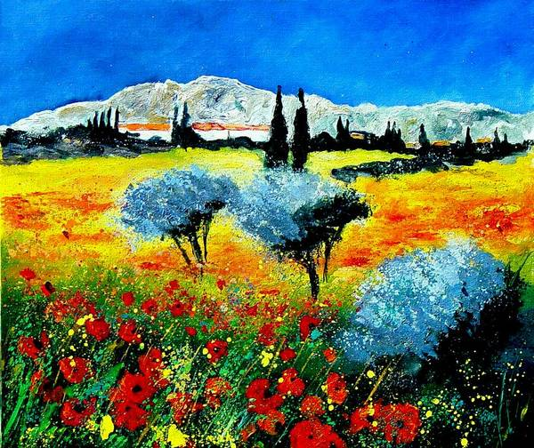 Poppies Art Print featuring the painting Provence by Pol Ledent