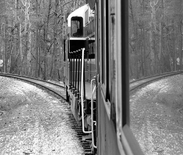 Train Art Print featuring the photograph Reflections In Riding by Barbara Palmer