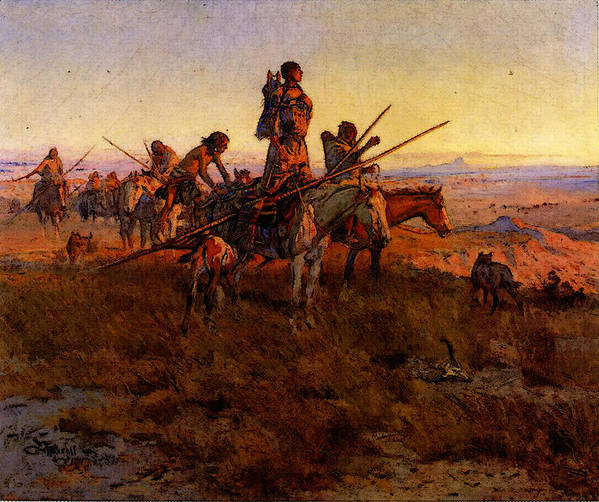 Russell Art Print featuring the digital art Russell Charles Marion In The Wake Of The Buffalo Hunters by PixBreak Art