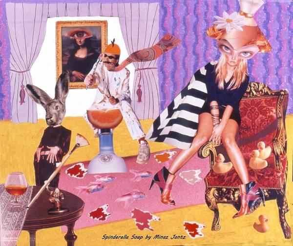 Mona Lisa Art Print featuring the drawing Soap Scene #20 Galleria Symbiosis by Minaz Jantz