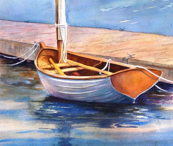 Sailboat Art Print featuring the painting Solitude by Dorothy Nalls