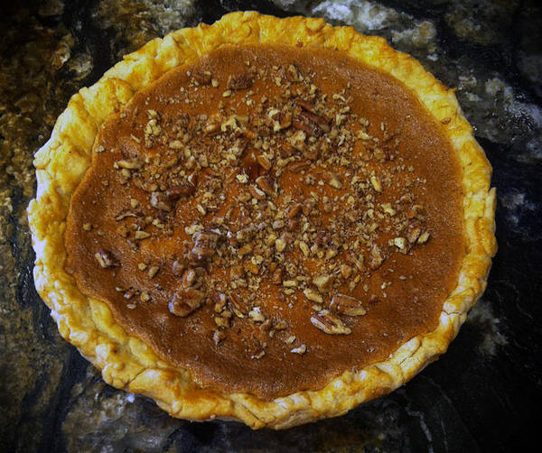 Pecan Pie Art Print featuring the photograph Southern Pecan Pie by Rachel Knight