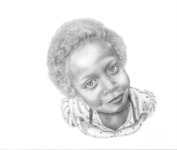 Portrait Art Print featuring the drawing Sweet Eyes by Murphy Elliott