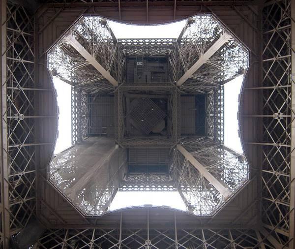 Eiffel Art Print featuring the photograph Under Eiffel by Menucha Citron