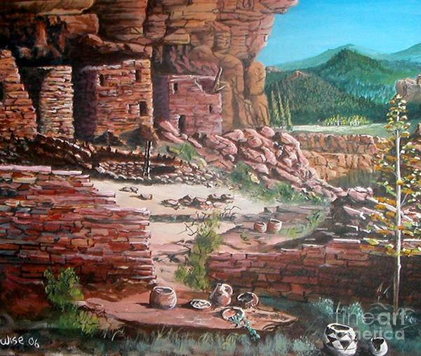 Native America Art Print featuring the painting Undiscovered by John Wise