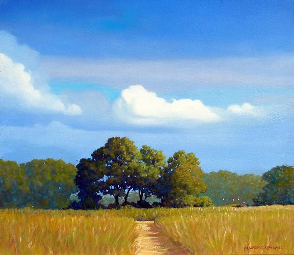 Landscape Art Print featuring the painting The Path by Kevin Lawrence Leveque