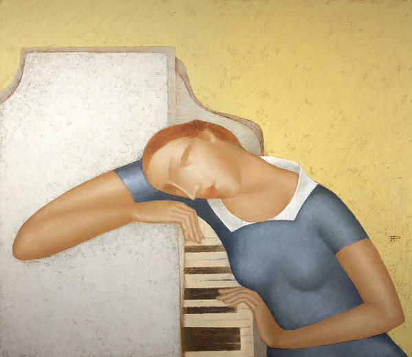 Piano Art Print featuring the painting Piano by Nicolay Reznichenko