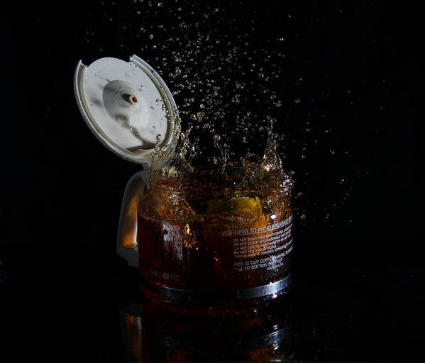 Coffee Art Print featuring the photograph A Splash Of Coffee by Randy Turnbow