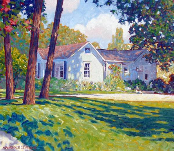 City Art Print featuring the painting Artists Home by Kevin Lawrence Leveque