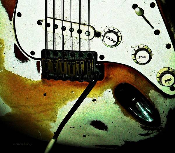 Music Art Print featuring the photograph Fender Detail by Chris Berry