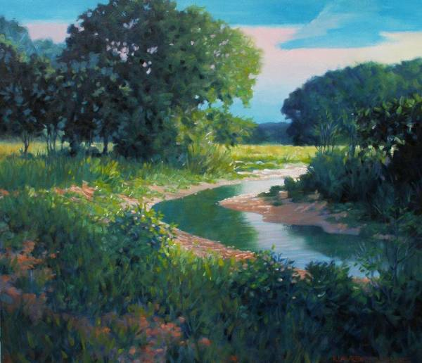 Landscape Art Print featuring the painting First Light by Kevin Lawrence Leveque