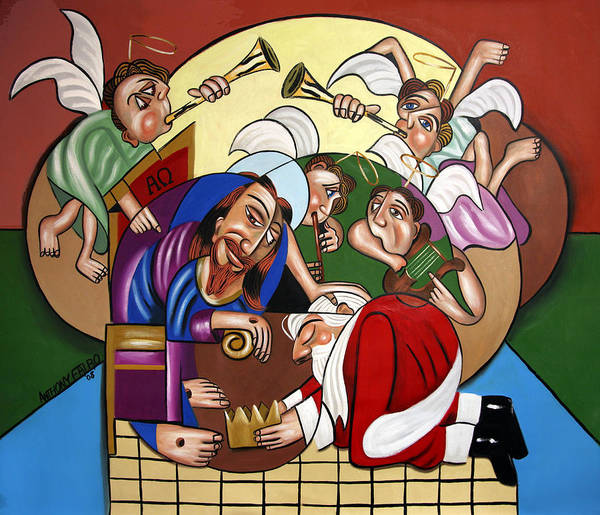 Good And Faithful Servant Art Print featuring the painting Good And Faithful Servant by Anthony Falbo