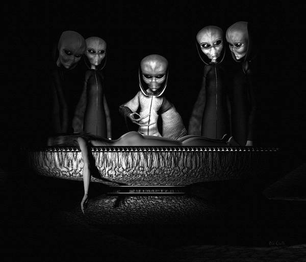 Alien Abduction Art Print featuring the digital art Nameless Faces by Bob Orsillo
