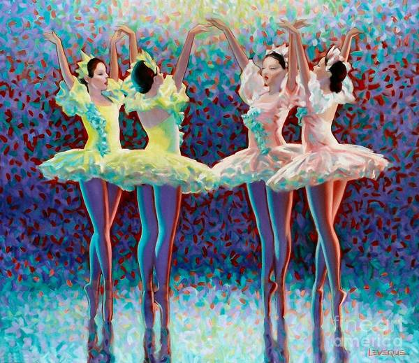 Dancers Art Print featuring the painting Releve' by Kevin Lawrence Leveque