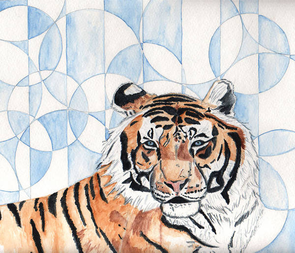 Tiger Art Print featuring the painting Royal Mysticism by Crystal Hubbard