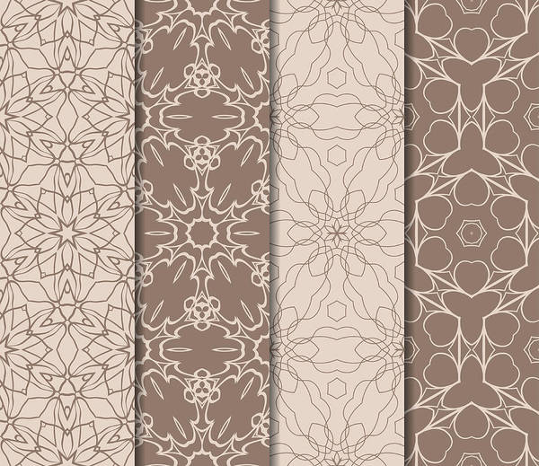 Set Of Modern Geometric Pattern Seamless Vector Illustration For Interior Design Printing Wallpaper Fill Pattern Skin Tone Color Art Print