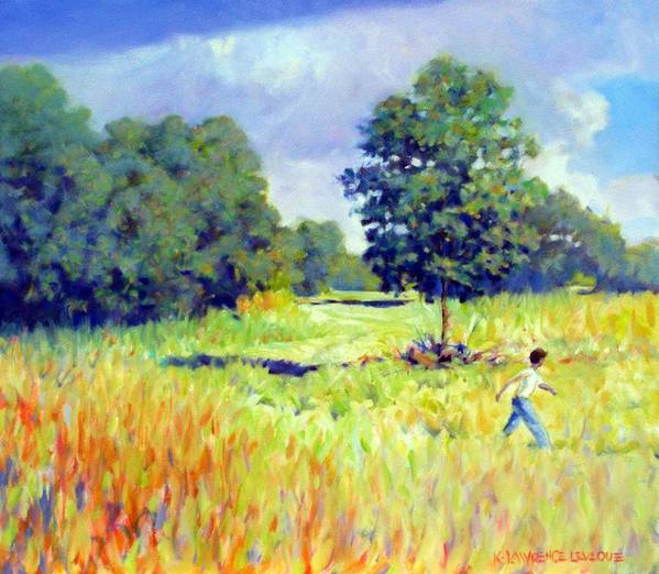 Landscape Art Print featuring the painting Storm Chase by Kevin Lawrence Leveque
