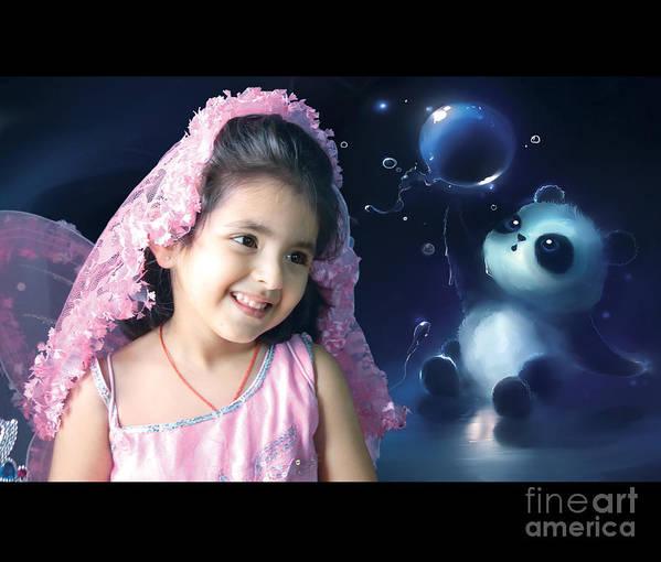 Baby Pics Art Print featuring the digital art Gunnu by Vikas Khatri