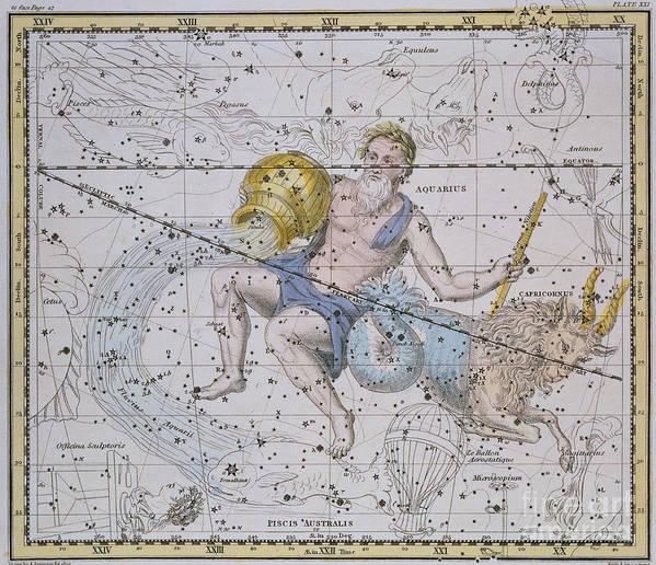 Aquarius And Capricorn Art Print featuring the painting Aquarius And Capricorn by A Jamieson