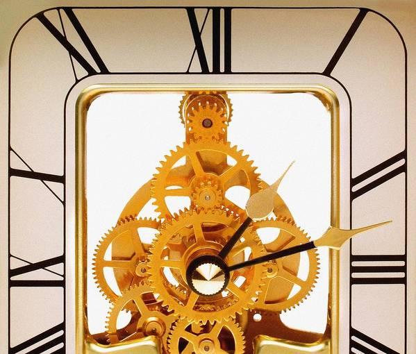 Clock Art Print featuring the photograph Clock Mechanism by Victor De Schwanberg