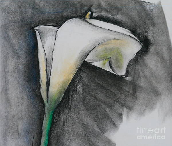 Flower In Bloom - Los Angeles Art Print featuring the pastel Flower In Bloom - Los Angeles by Robert Birkenes