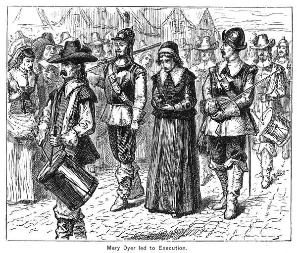 1660 Art Print featuring the photograph Mary Dyer, D.1660 by Granger