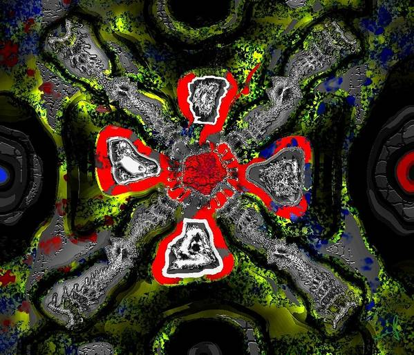 Quadrivium Art Print featuring the digital art Quadrivium by Maciek Froncisz