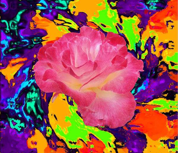 Kenneth's Nature | - | Great Affordable Cards: - | - 2.95 Each For A Pack Of 10: - | - - | - - | - 2.48 Each For A Pack Of 25: - Partake In The Flowers!!! Art Print featuring the mixed media Rose In The Matter Of Your Hand 6 by Kenneth James