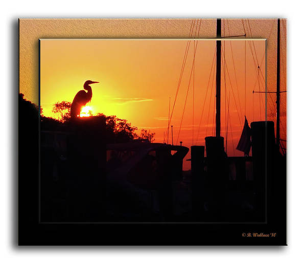 2d Art Print featuring the photograph Sunset At The Granary by Brian Wallace