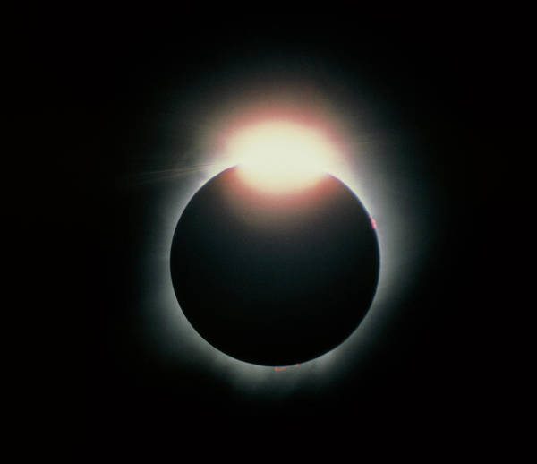 Eclipse Print featuring the photograph Total Solar Eclipse, 11 July 1991 by Dr Fred Espenak