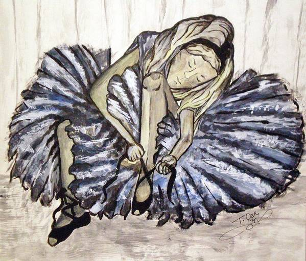 Ballet Art Print featuring the painting Ballerina Girl by Tammera Malicki-Wong