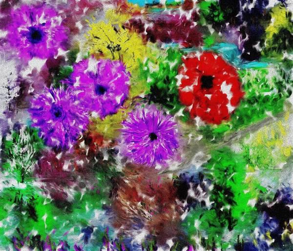 Landscape Art Print featuring the digital art Dream Garden II by David Lane
