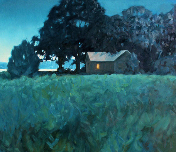 Landscape Art Print featuring the painting Early Riser by Kevin Lawrence Leveque