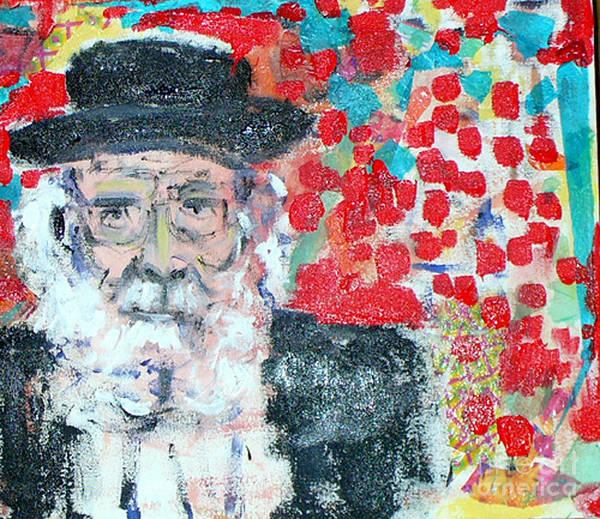 Israel Art Print featuring the painting Jerusalem Man by Joyce Goldin