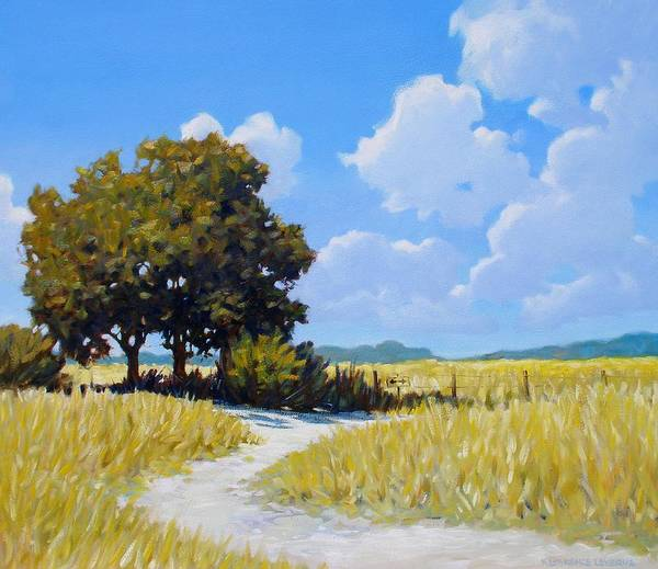 Landscape Art Print featuring the painting Left Or Right by Kevin Lawrence Leveque