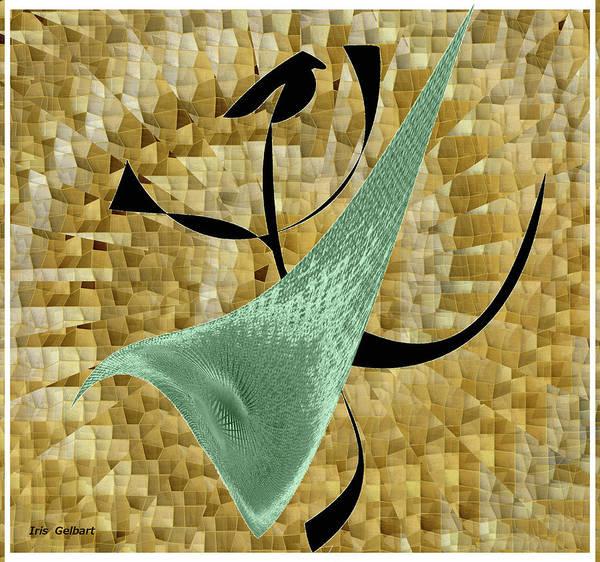 Abstract Art Print featuring the digital art Abstract #68 by Iris Gelbart