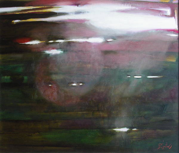Oil Art Print featuring the painting The Parallel World by Sergey Ignatenko
