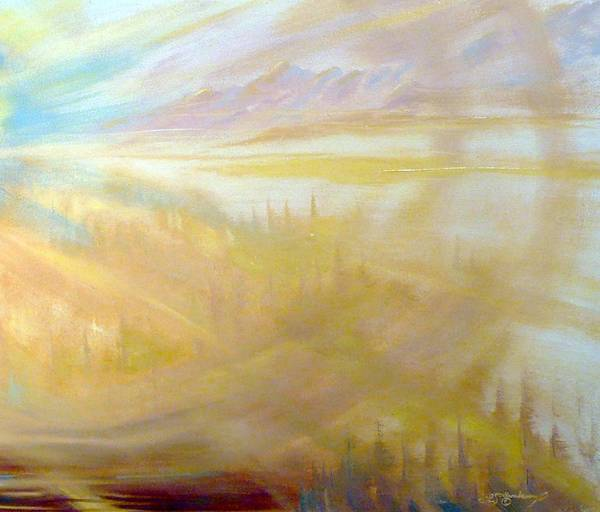 Art Print featuring the painting Earth Light Series by Len Sodenkamp