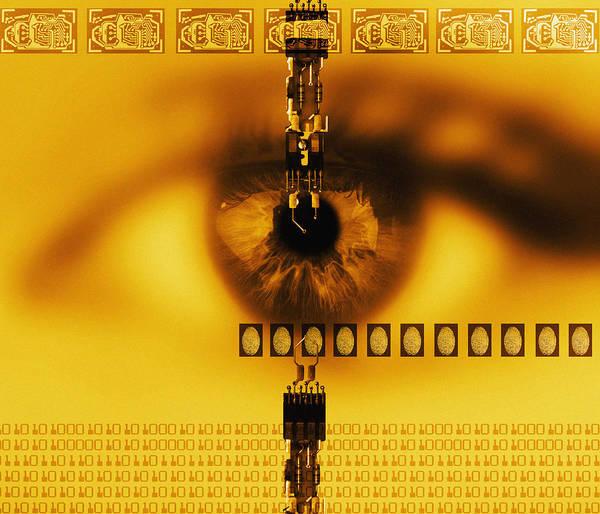 Technology Art Print featuring the photograph Biometric Identification by Mehau Kulyk